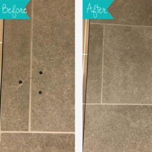 HOLES ON TILE REPAIRED